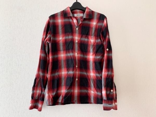 UNUSED(アンユーズド) 長袖シャツ サイズ1 S メンズ レッド×黒×グレー チェック柄