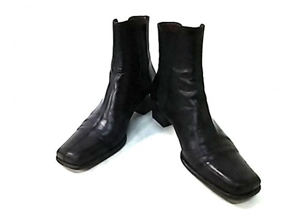 MAGLI(マリ) ショートブーツ 35 レディース 黒 サイドゴア レザー
