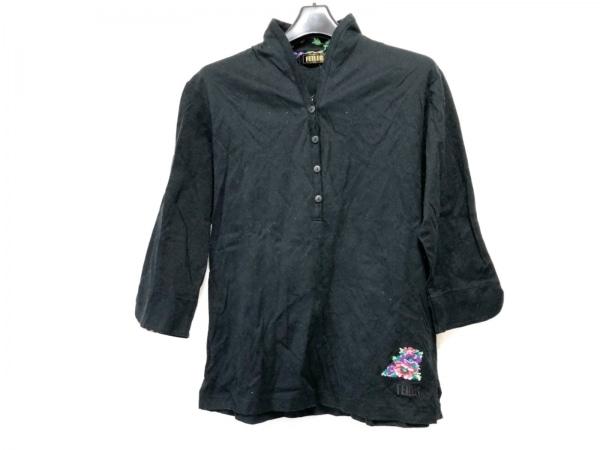FEILER(フェイラー) 七分袖ポロシャツ サイズL レディース 黒