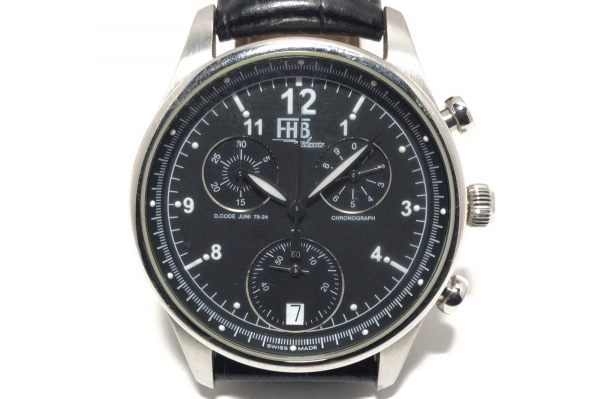 FHB(エフエイチビー) 腕時計 F-404 メンズ 黒