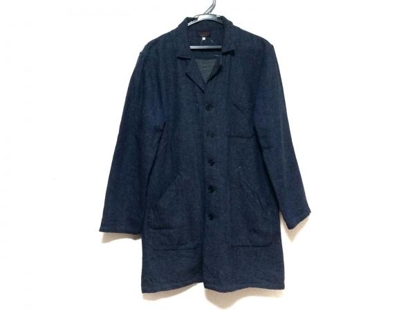 SABRE(セイバー) コート サイズ42 L メンズ美品  ネイビー 春・秋物