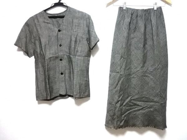 JURGEN LEHL(ヨーガンレール) スカートスーツ サイズM レディース ダークグレー 半袖