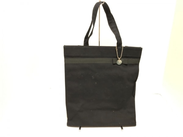 KITAMURA(キタムラ) トートバッグ 黒 リボン キャンバス×ナイロン