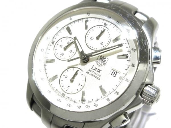 タグホイヤー 腕時計 リンク クロノグラフ CJF2111 メンズ クロノグラフ 白