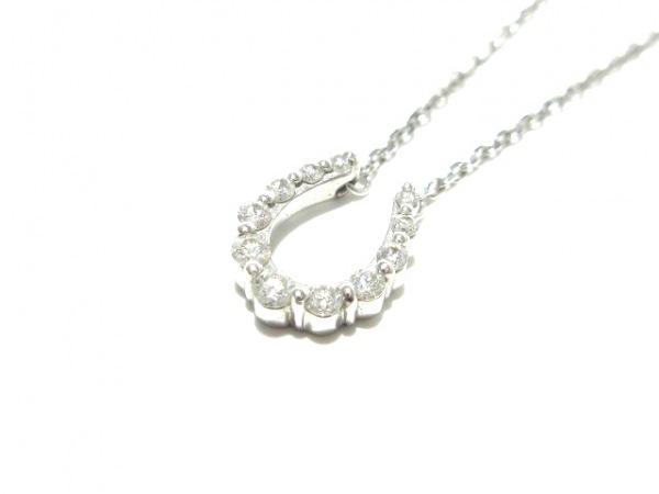 ヴァンドーム青山 ネックレス Pt950×Pt850×ダイヤモンド 0.11カラット/馬蹄モチーフ