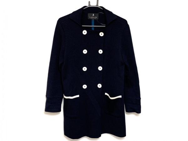 LANVIN en Bleu(ランバンオンブルー) コート サイズ38 M レディース ニット/春・秋物