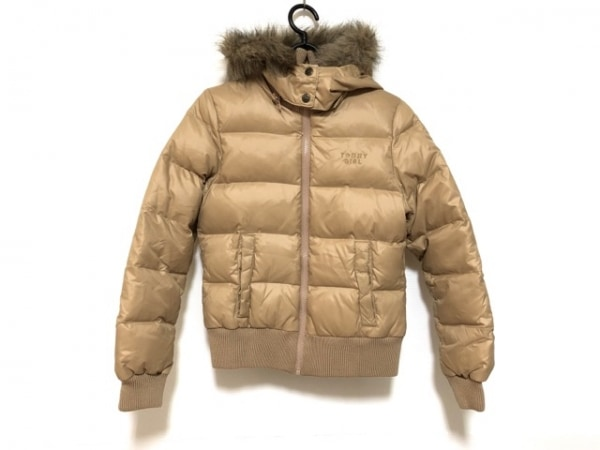 トミーガール ダウンジャケット サイズS レディース美品  ライトブラウン 冬物