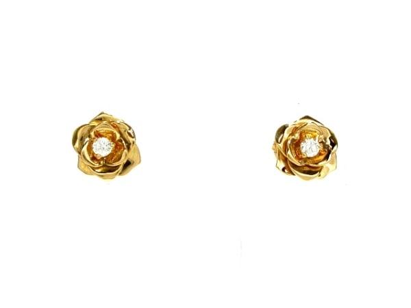 PIAGET(ピアジェ) ピアス美品  K18YG×ダイヤモンド 1Pダイヤ約0.07カラット/ローズ