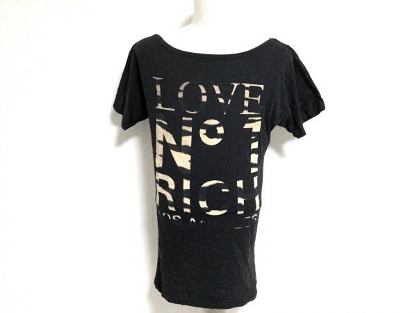 JOYRICH(ジョイリッチ) 半袖Tシャツ サイズS メンズ 黒×ライトブラウン LOS ANGELES