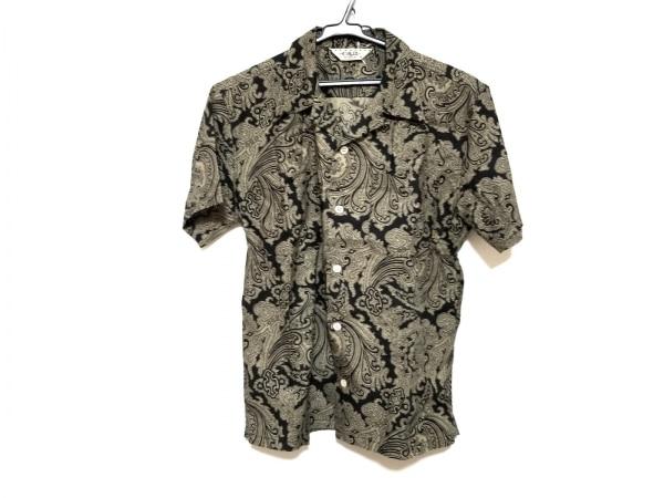 CALEE(キャリー) 半袖シャツ サイズM メンズ美品  黒×カーキ ペイズリー柄