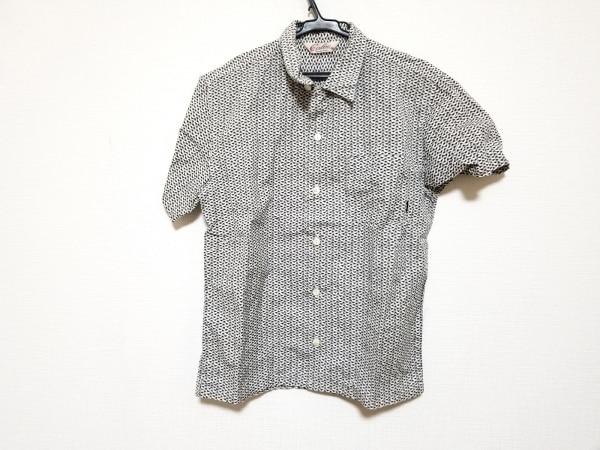 CALEE(キャリー) 半袖シャツ サイズM メンズ美品  アイボリー×黒×ライトグレー