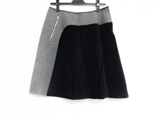 kolor(カラー) スカート サイズ1 S レディース美品  ダークグレー×ネイビー