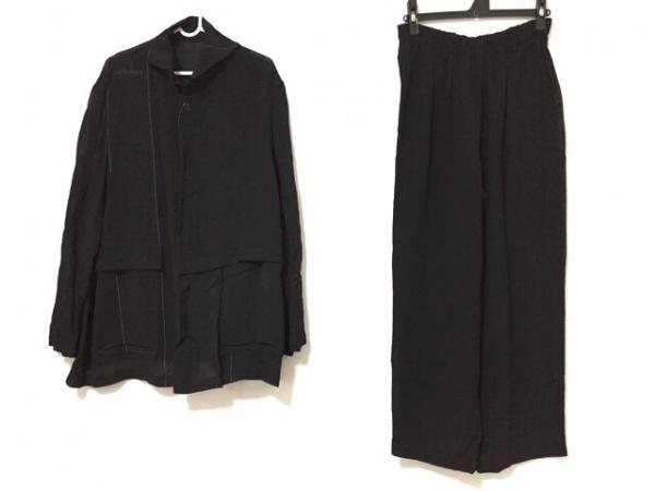 pour deux(プルドゥ) レディースパンツスーツ サイズM レディース 黒×白