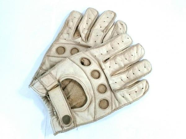 DRIES VAN NOTEN(ドリスヴァンノッテン) 手袋 メンズ ベージュ レザー