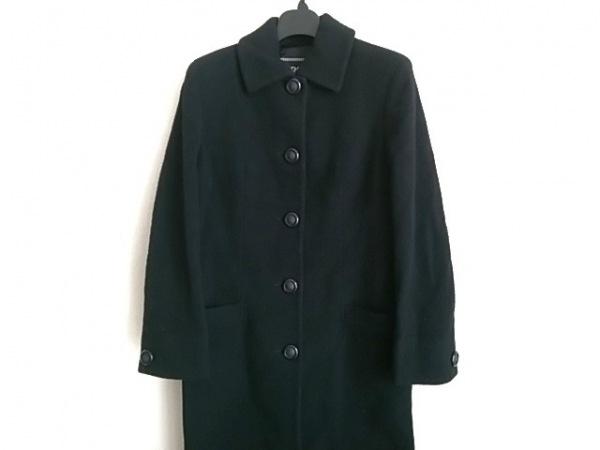 VERSACE JEANS COUTURE(ヴェルサーチジーンズ) コート サイズXS レディース 黒 冬物