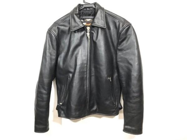 ハーレーダビッドソン ライダースジャケット サイズM メンズ 黒 冬物