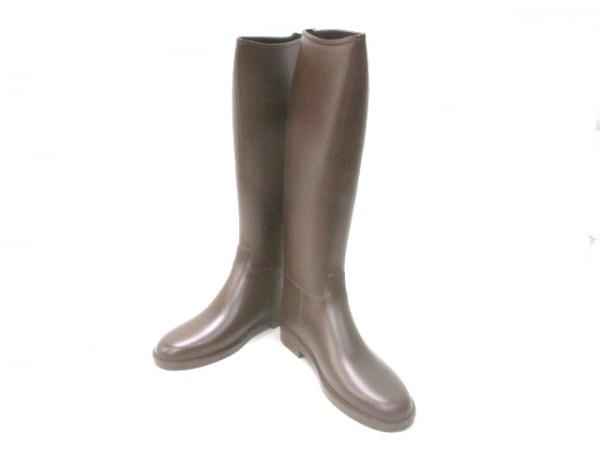Dafna Boots(ダフナブーツ) レインブーツ レディース ダークブラウン ラバー