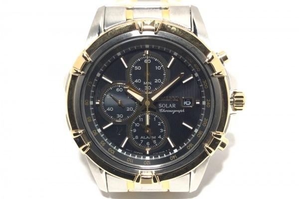SEIKO(セイコー) 腕時計 V172-0AJ0 メンズ クロノグラフ 黒