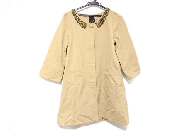 ラピスルーチェビームス コート サイズ36 S レディース ベージュ ビジュー/春・秋物