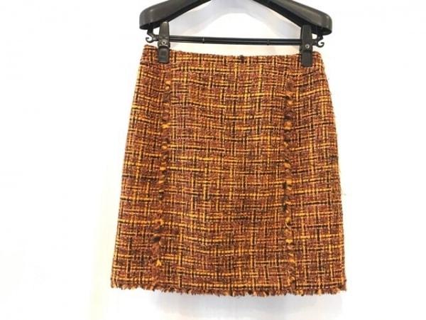 ニジュウサンク スカート サイズ38 M レディース ブラウン×黒×マルチ ツイード