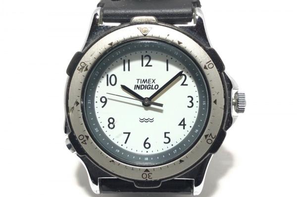 TIMEX(タイメックス) 腕時計 INDIGLO 376MA CELL ボーイズ ラバーベルト 白