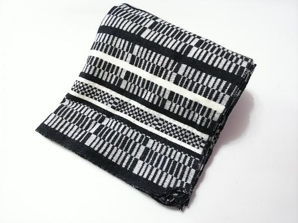 ミントデザインズ ストール(ショール) 黒×グレー×白 ウール×ナイロン