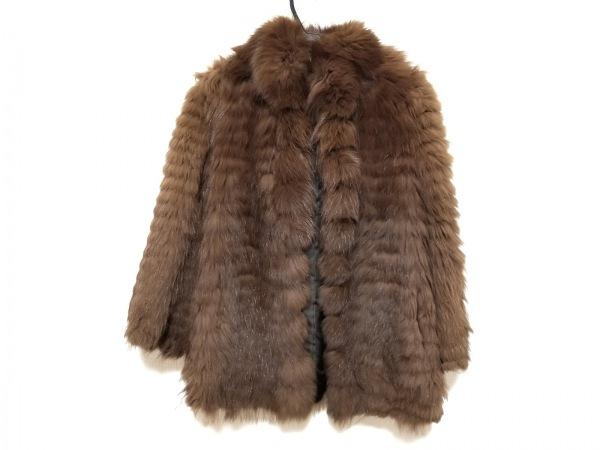 サガフォックス コート サイズ9 M レディース美品  ブラウン ネーム刺繍/冬物