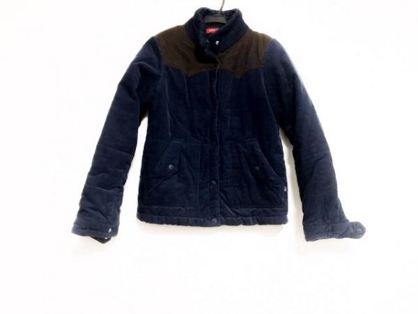 トミーガール ダウンジャケット サイズS レディース美品  ネイビー×ダークブラウン