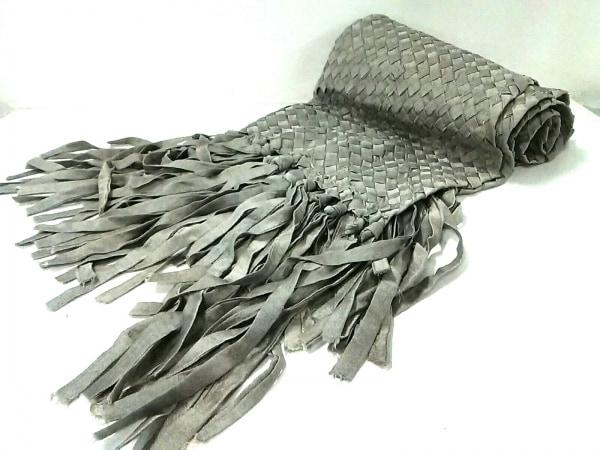 FilD'araignee(フィルダレニエ) ストール(ショール)美品  グレー 編み込み シルク