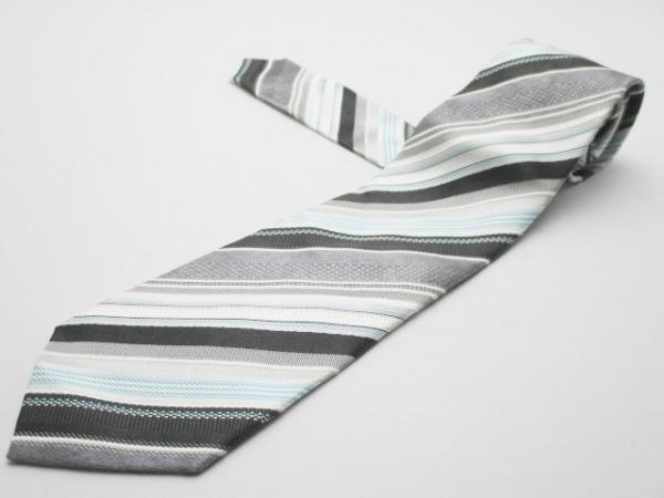 PaulSmith(ポールスミス) ネクタイ メンズ美品  白×マルチ レジメンタル