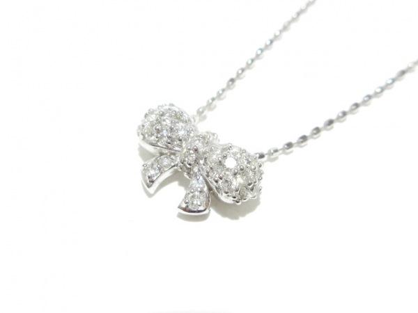 Sirena Azzurro(セイレーンアズーロ) ネックレス新品同様  K18WG×ダイヤモンド