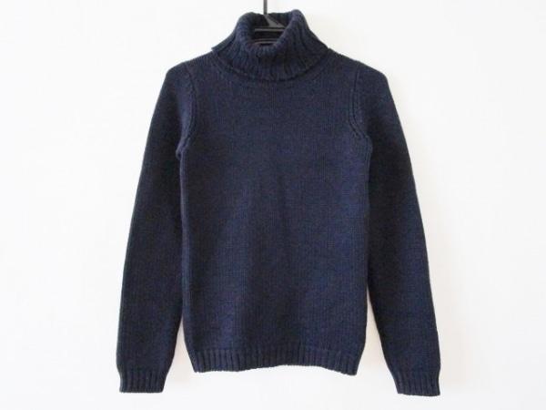 ザノーネ 長袖セーター サイズ40 M レディース ダークネイビー タートルネック