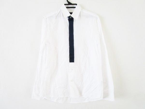 KNOTT(ノット) 長袖シャツ サイズ1 S メンズ 白×ネイビー