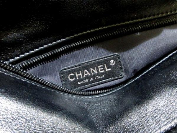 シャネル トートバッグ美品  パリビアリッツトートPM 黒×グレー 6