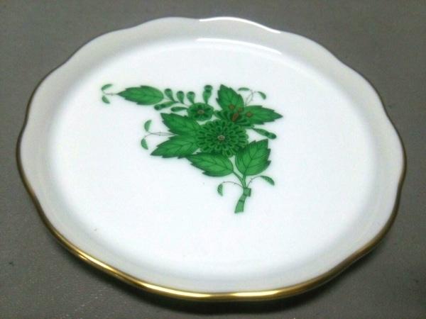 Herend(ヘレンド) プレート新品同様  白×グリーン×ゴールド 陶器