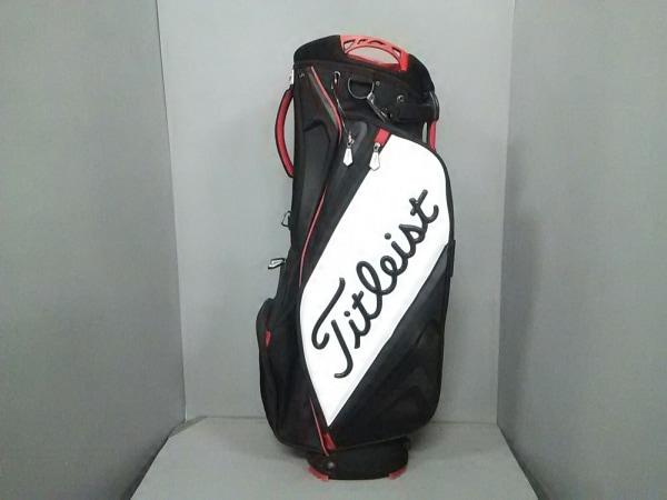 Titleist(タイトリスト) バッグ 黒×レッド×白 ゴルフバッグ 化学繊維