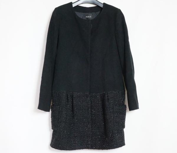 RULe(ルール) コート サイズS レディース美品  黒 ツイード/ラメ/冬物