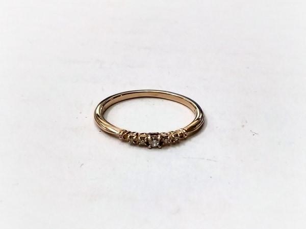 agete(アガット) リング美品  K10×ダイヤモンド 0.04カラット/5Pダイヤ