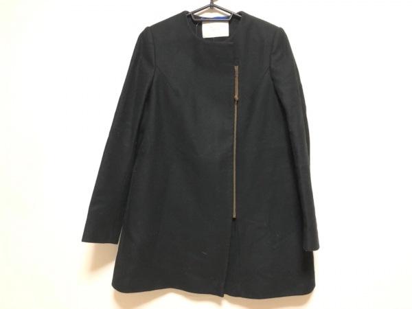 TELA(テラ) コート レディース 黒 冬物/ジップアップ