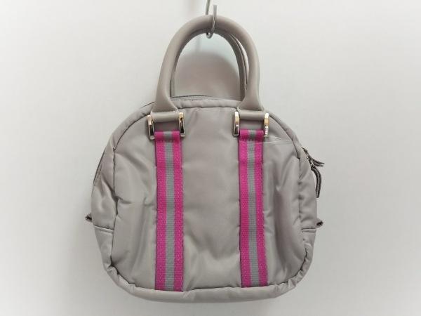CALLAWAY(キャロウェイ) ハンドバッグ美品  ライトグレー×ピンク ナイロン