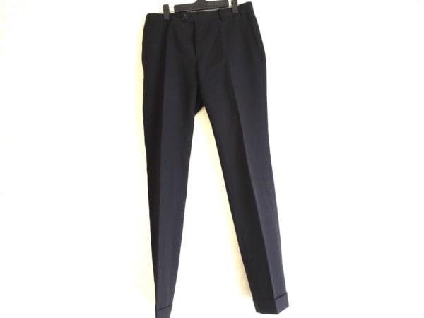 COMME CA MEN(コムサメン) パンツ サイズ44 L メンズ 黒 ストライプ