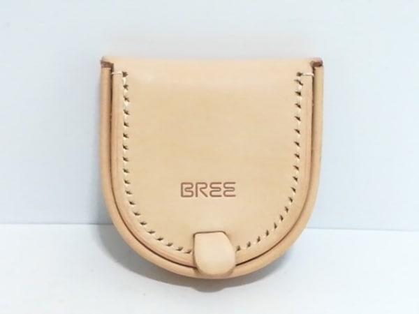BREE(ブリー) コインケース美品  ベージュ レザー