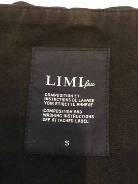 LIMI feu(リミフゥ) コート サイズS レディース 黒 冬物