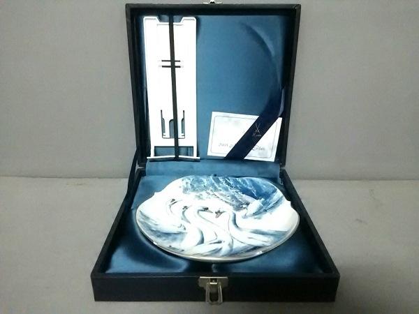 マイセン 小物新品同様  白×ネイビー×ゴールド メモリアルプレート 2005 陶器