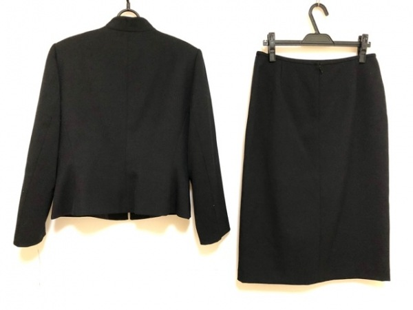 TAHARI(タハリ) スカートスーツ サイズ12P レディース新品同様  黒 ジップアップ