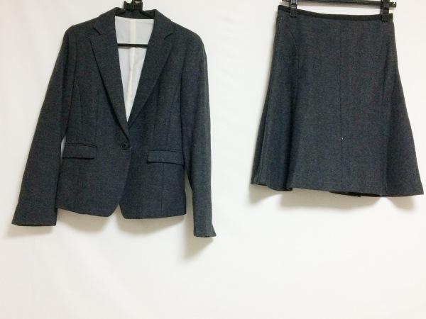 COMME CA ISM(コムサイズム) スカートスーツ サイズM レディース 黒×グレー