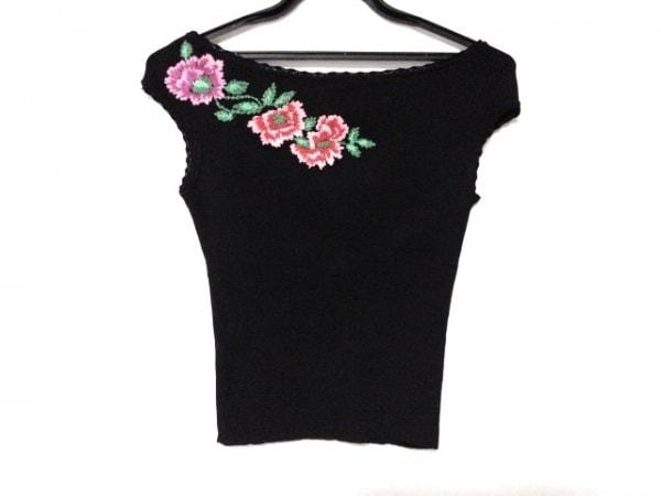 ANNA MOLINARI(アンナモリナーリ) カットソー サイズ42 M レディース美品  黒 刺繍