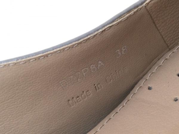 ジェオックス サンダル 38 レディース美品  グレー×黒×ベージュ 型押し加工 レザー