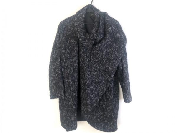 G.V.G.V.(ジーヴィジーヴィ) コート サイズ36 S レディース美品  黒×グレー 冬物