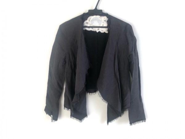 レキサミ ジャケット サイズ38 M レディース美品  ダークグレー 切りっぱなし加工